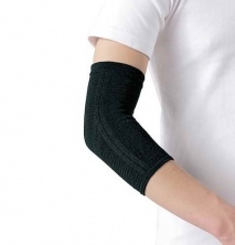 Бандаж для локтя Phiten Elbow Soft Type черный | phiten.su